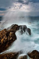 Moody and cloudy (robert demeter) Tags: moody catalunya spain seascape sea longexposure sky clouds water europe nikon