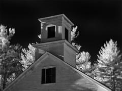 PB220482 - Wilton Church (Syed HJ) Tags: olympusomdem5 olympusem5 olympus em5 fujian35mmf16 fujian35mm fujian 35mm cctvlens blackandwhite bw blackwhite infrared ir 850nm rural ruralamerica church wilton wiltonnh nh