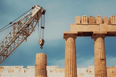 acropolis re-construction (dan.boss) Tags: pillar crane construction greece athens acropolis