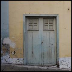 downhill from here... (foto.phrend) Tags: tenerife decay derelict door puertodelacruz blue yellow