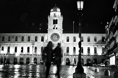 """Piazza Dei"" (Antonio Ferraroni) Tags: life blackandwhite bw white black architecture contrast 35mm landscape 50mm blackwhite still 400 hp5 f2 12 quartz ml ilford yashica architettura paesaggio padova padua analogic fxd 2013"