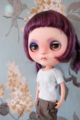 New face of Uva! (Ris~Ras) Tags: carving angry blythe custom grumpy fbl vainila