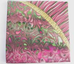 Wild Rose tile (susanwhitestudio) Tags: wild rose tile clay polymer