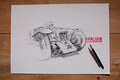 Voisin Print (Stefan Marjoram) Tags: art car pencil print french sketch drawing racing prismacolor limited edition c6 1923 avions laboratoire giclee voisin