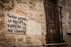 Gemello mare. (stars`bread) Tags: summer muro wall writing vacances holidays estate t mur puglia vacanze scritta pensiero polignano aforisma canoneos1000d