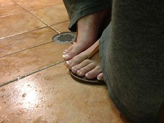 Brown Thong Sandals (nonamefeet) Tags: male guy feet fetish french foot toes toe sandals cd thong pedicure sandal footfetish paintedtoes malefeet feetfetish frenchpedicure thongsandals guyfeet malepedicure guypedicure cdfeet cdtoes