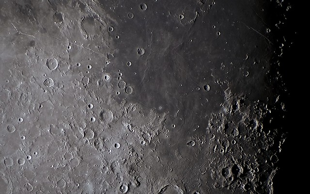 Armstrong Crater and a Mans First Step on the Moon (High Resolution)