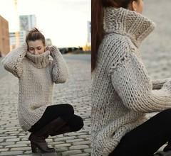 riesen rollkragen grobstrick pullover 100 schurwolle kamel (Mytwist) Tags: wool sweater jumper knitted pullover kamel riesen schurwolle rollkragen grobstrick
