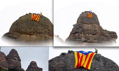 Estelada a la Portella Gran 2 (Xevi V) Tags: montserrat catalunya estelada independència 11scat