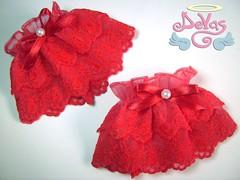 WRIST CUFF RED QUEEN (VENDIDO!) (Devas Acessrios) Tags: red lace queen lolita bracelet pearl cuff wristcuff devas