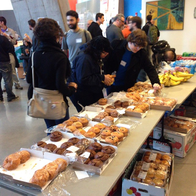 They said the muffins could not be opened. We'll, guess what? They're open! Stata Center #bcbos