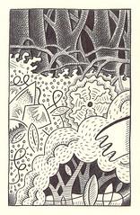 untitled (hero artist) Tags: flowers trees white black art nature forest pen ink garden paper landscape force drawing sketchbook line doodle jungle tangle ballpoint plabts
