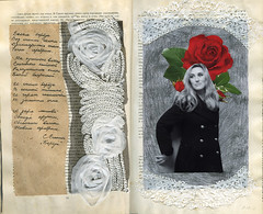 To my mother (maestria) Tags: rose collage lyrics retro artbook artjournal
