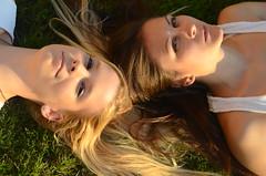 Heike & Vlada (heinltier) Tags: portrait brown closeup intense nikon women blonde d7000