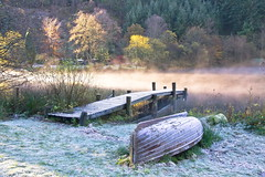 First Frost (PeterYoung1.) Tags: uk autumn trees mist nature water beautiful landscape scotland colours scenic atmospheric ard lochard