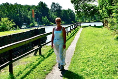 Summerday in 2011 (iEagle2) Tags: summer woman female donna femme wife locks olympuspen ep2 vänersborg ehefrau olympusep2 karlsgrav
