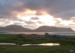 An Empty Stromness Golf Course (orquil) Tags: uk november autumn sunset clouds islands scotland orkney view footbridge hills golfcourse sound hoy ww2 cloudscape defences stromness waterhazard wardhill orcades cuilags nessbattery