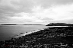 Labrador coast (WhiteFlowersFade) Tags: voyage travel sea blackandwhite bw mer canada water clouds newfoundland landscape nikon eau labrador noiretblanc north roadtrip nuages paysage nord cartwright tnl terreneuve d7k d7000