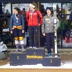 Women's Overall Podium at Panorama Keurig Cup super-G Dec/13 - 1. Rebecca Bermel, WVSC; 2. Gina Norton, WVSC; 3. Rae Swette, WMSC
