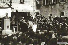 Caldonazzo Inauguração Busto Eugenio Prati 1925