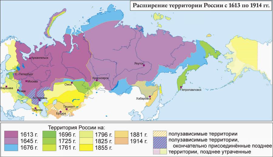 Территориальная целостность России. Источник: Wikipedia