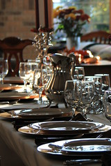 Celebration with Bouquet-Bokeh (RPahre) Tags: china table bokeh plate celebration bouquet placesetting glassware bouquetbokeh