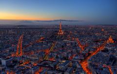Du ciel de paris (fotopierino) Tags: en paris france night canon de tramonto torre tour mark iii eiffel du clear ciel 5d montparnasse francia hdr parigi sereno fotopierino
