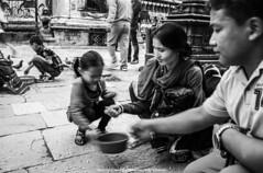 Temple Moments |  (francisling) Tags: world family nepal heritage zeiss 35mm t temple site pigeons sony cybershot unesco kathmandu   sonnar   swayambhunath  rx1    dscrx1