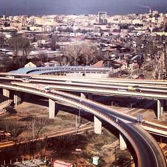 Mostar motorway junction, Belgrade, Serbia. (seva_nmb) Tags: architecture modern industrial modernism belgrade beograd 2014 uploaded:by=flickrmobile flickriosapp:filter=nofilter