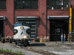 Ready to Run the Rails (Brandon R. Smith) Tags: train pennsylvania engine locomotive thoroughbred altoona norfolksouthern locomotiveshop funit maintenanceshop railfest ns4270 nspittsburghline nsfunits