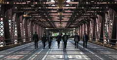 chicago groomsmen (explore 1/19/14) (morris 811) Tags: bridge wedding chicago nikon shadows nikkor groomsmen f28 2470mm d90 davidmorris explored davidmorrisphotography