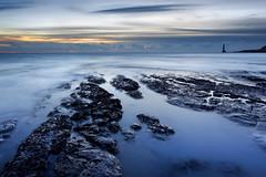 Enjoy the Silence (Alan MacKenzie) Tags: ocean longexposure sea lighthouse sussex rocks dusk southdowns beachyhead beachyheadlighthouse