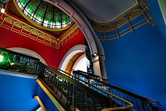 Bold Colours (evangelique) Tags: old building architecture stairs sydney australia grand nsw cbd romanesque qvb queenvictoriabuilding