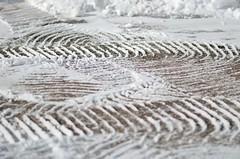 "MN ""Bobcat"" tracks (jimmiesp) Tags: winter light wild white snow cold color ice nature weather minnesota nikon day cityscape shadows dof wind tracks 85mm sparkle sidewalk transportation bobcat saintpaul mn icesculptures mnstate d5100"