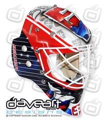 The Anthem of Slovakia - Sochi 2014 (DAVEART MaskGallery) Tags: hockey goalie mask olympics airbrush sochi 2014 gunnarsson budaj daveart