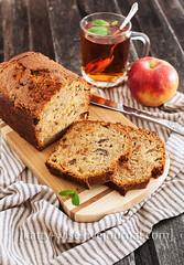Apple nut muffin cake (Katty-S) Tags: apple cake breakfast bread baking tea sweet nuts mint muffin bake brea swe