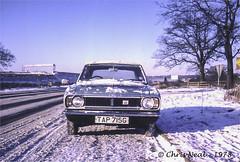 Ford Cortina Mk.II - Chertsey 1978 (CNThings) Tags: ford cortina car automobile surrey olympuspen chrisneal mkii chertsey thorpepark dagenham cnthings