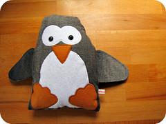 Penguin softie (PaisleyJade) Tags: white black cute toy penguin plush softie plushie