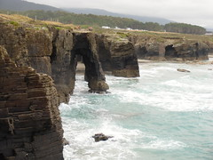 Playa de Las Catedrales; Ribadeo, Lugo (escandio) Tags: espaa 4 playa arco 2012 espania ascatedrais ribadeolugo pqviaje