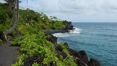 Kūaiwa Point Maui (Edmund Garman) Tags: ocean road vacation black beach water hawaii sand maui hana