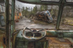 The wheels on the bus (Kriegaffe 9) Tags: bus coach rust pov rusty ukraine d600 pripyat 1424 wheelsteeringwheel
