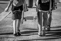 skaters (Salle-Ann) Tags: street bw boys photography blackwhite skaters skateboardsnswstreet