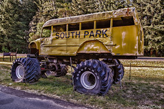 The Local School Bus (HSS) (buffdawgus) Tags: california northerncalifornia schoolbus bigwheels highway101 monstertruck redwoodhighway leggett monsterbus canonef24105mmf4lisusm canon5dmarkiii lightroom5 topazsw