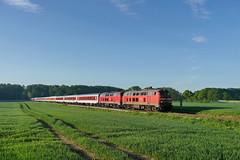 P1620656 (Lumixfan68) Tags: eisenbahn db bahn deutsche 218 züge loks cnl citynightline nachtzug baureihe doppeltraktion dieselloks nachtzüge