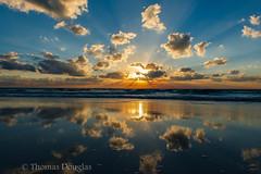 Sunrise Cancun Mexico (600tom) Tags: ocean beach water clouds sunrise reflections mexico nikon waves cancun colourfull