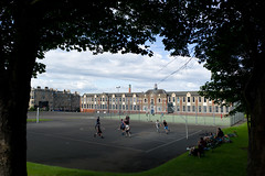 Let's shoot some hoops! (David_Leicafan) Tags: school friends sports playground basketball edinburgh audience candid bellevue 28mmelmaritv4 drummondcommunityhighschool