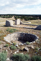 Gran Quivera (Peter Gutierrez) Tags: new old usa southwest west building film archaeology monument stone architecture america buildings mexico us photo ancient ruins village indian south united pueblo ruin villages salinas southern peter national american western mission builders gutierrez americana gran indians states missions archaeological pueblos southwestern ruined torrance new mexico quivera petergutierrez