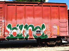 BIRD. (NTHESTREETS) Tags: streetart bird graffiti orlando florida traintracks tracks trains cargo rails week spraypaint boxcar jesussaves graff railways freight trainyard trackside csx freights spraycans theyard monikers moniker benched benching fr8s fcen nthestreets