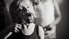 Birthday (Dalla*) Tags: boy portrait white black cake kids baking kid dough mixing licking batter beaters wwwdallais