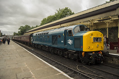 40145 2J71 (DM47744) Tags: street blue english heritage station electric train bury track br diesel transport traction railway trains class lancashire east 40 society railways elr ee preservation 345 d345 40145 cfps